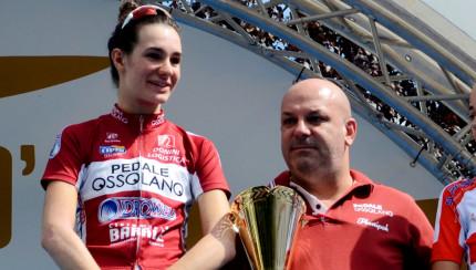 Francesca Barale con Ricccardo Barale zio e Direttore Sportivo sul podo alla Coppa di Sera